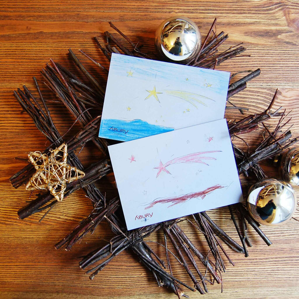 Christmas Postcard Shooting Star (German) by ABURY Foundation