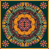 cocccon bengaluru colors of india scarf - yellow and green and dark silk scarf