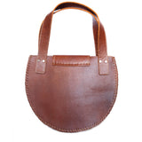 back view Wool and Leather Mini Handbag Anita