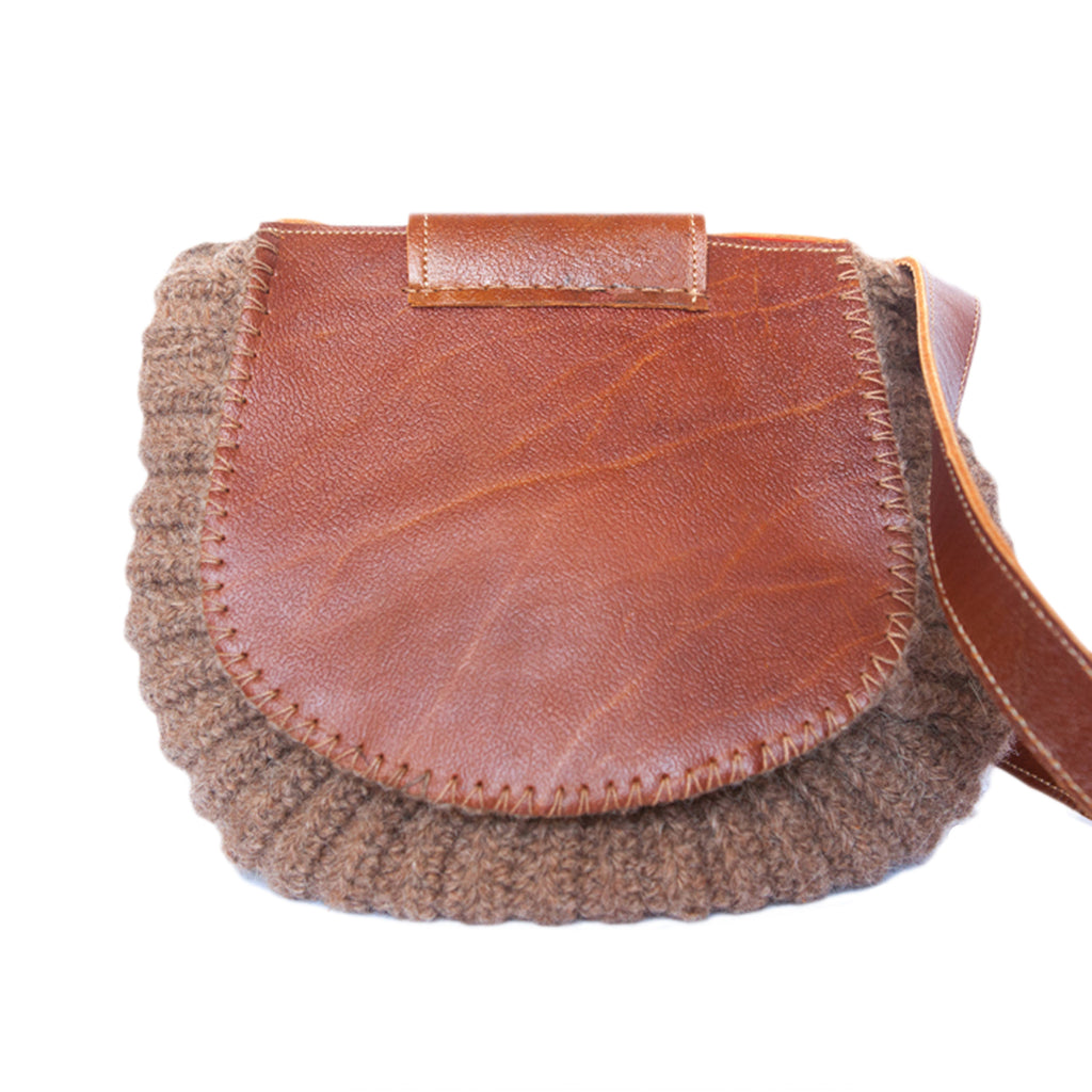 Wool and Leather Mini Shoulder Bag Gladys