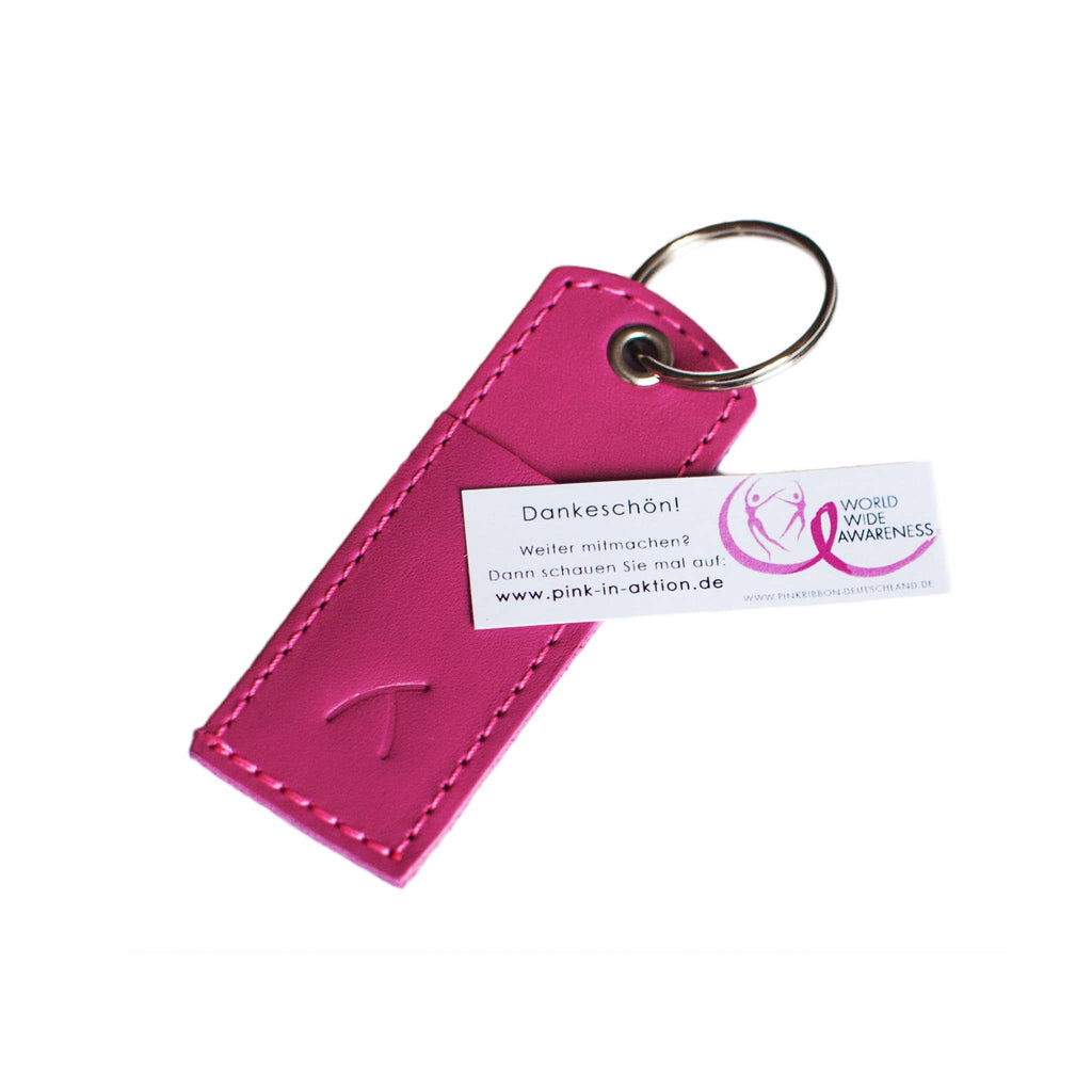 ABURY x Pink Ribbon Leather Keychain Set of 10