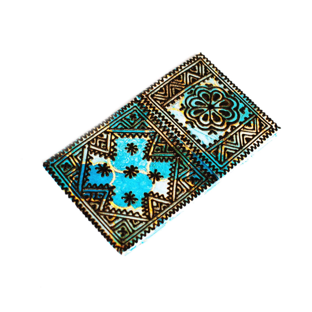 Handmade Notebook with Henna Design in Blue