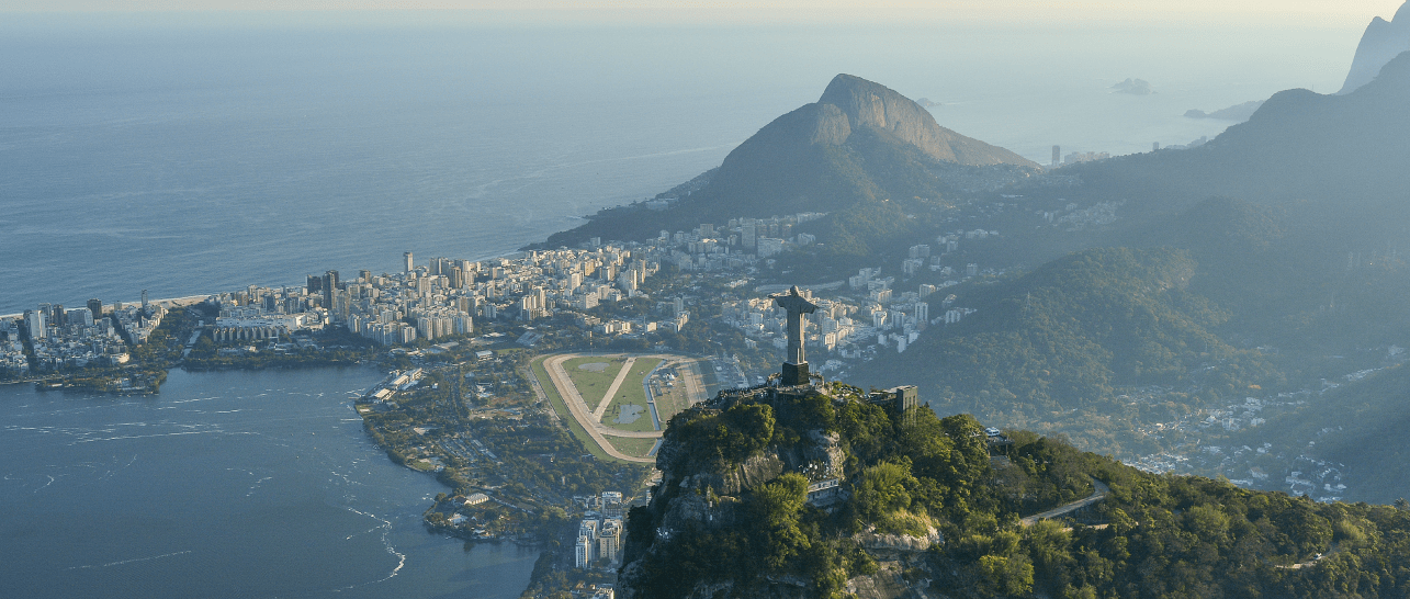 picture of rio de janeiro from above
