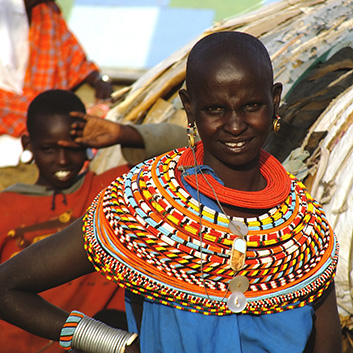 kenyan woman wearing handcrafted adornments