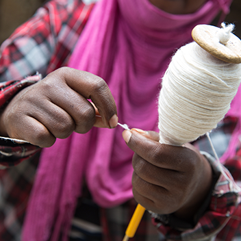 ethiopian crafts: quill with wool