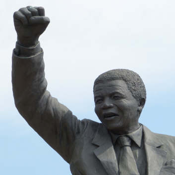picture of the monument for mandela