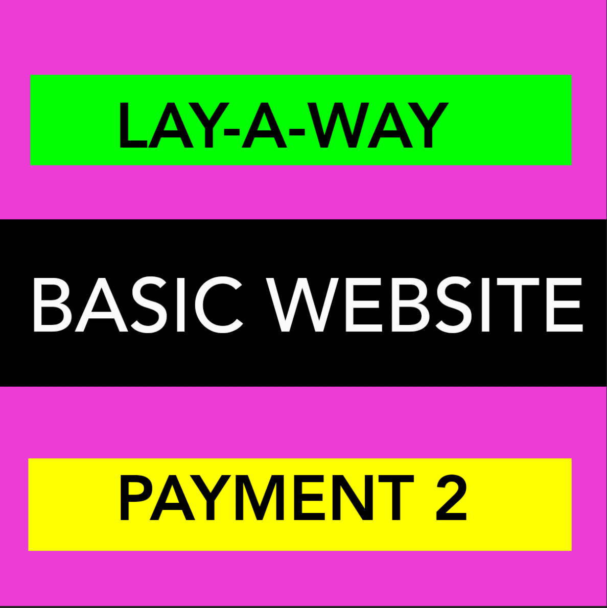 BASIC WEBSITE - LAYAWAY - PAYMENT 2
