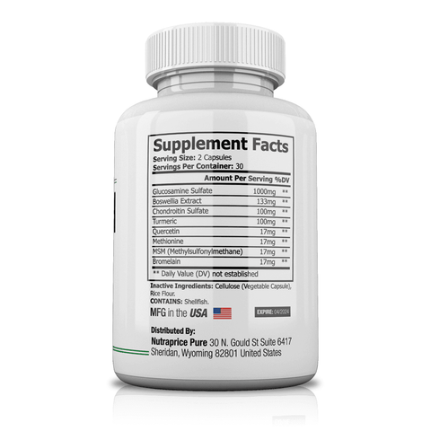 NutraPrice Pure Joint Health Advanced Formula - 60 Capsules