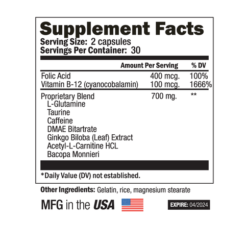 Image of NutraPrice Pure Cognitive Daily Essentials Brain Formula - 60 Capsules