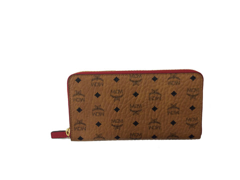 MCM Visetos  Zip Around Wallet