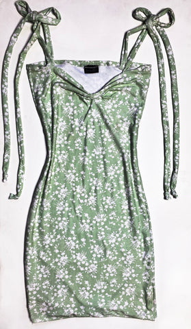 Mint Floral Dress - PR