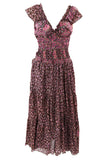 CHOCOLATE AND PINK Recycled Sari Silk Flamenco Dress