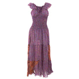 RECYCLED SARI SILK FLAMENCO DRESSES - VARIOUS COLOURS