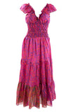 Fuchsia Pink Recycled Sari Silk Flamenco Dresses