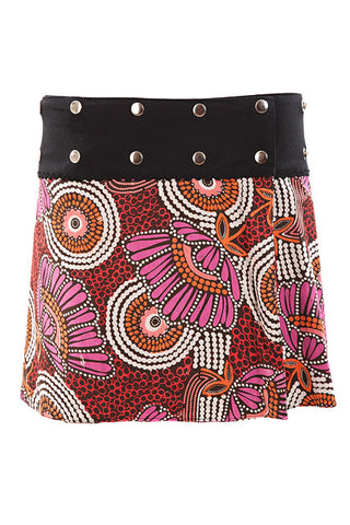 Reversible Mini Wrap Skirt