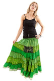 Recycled Sari Silk Gypsy Skirt Dresses