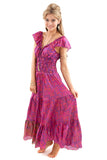 Recycled Sari Silk Flamenco Dresses