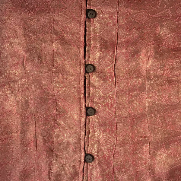 Recycled Brocade Sari Jacket Dusky Pink