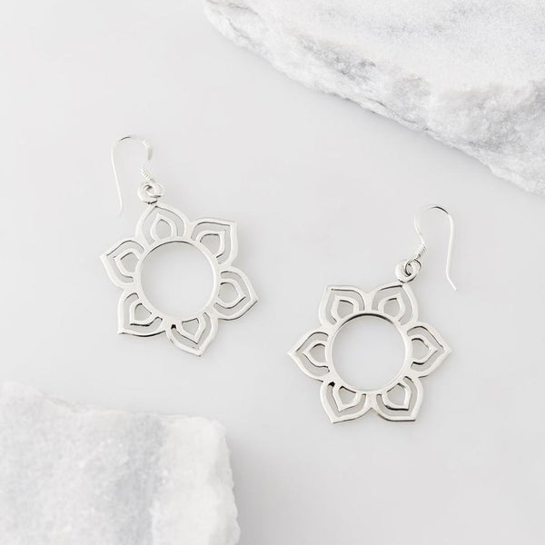 Lotus Devotion Flower Earrings