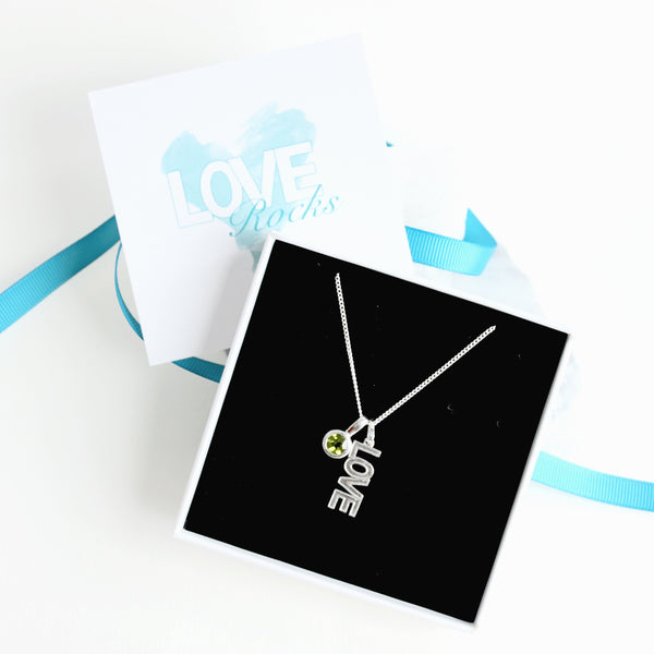 Love Rocks Necklace Gift Box
