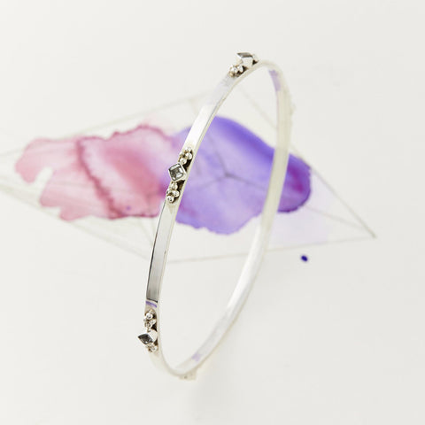 Princess Gemstone Stacking Bangle