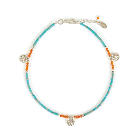 ATHENA TURQUOISE ANKLET