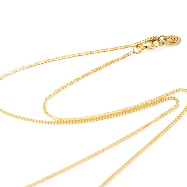 "32"" gold link chain"