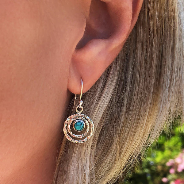 INFINITY UNIVERSE EARRINGS - TURQUOISE
