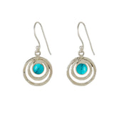 Infinity Universe Drop Earrings - Turquoise