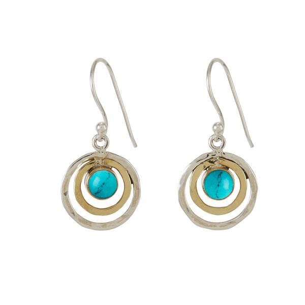 Turquoise infinity drop earrings