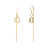 Total Eclipse Threader Earrings Gold