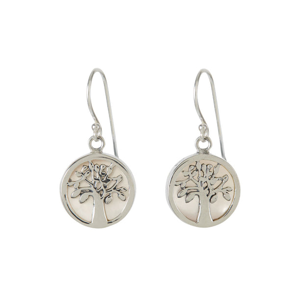 Tree of Life Healing Earrings Mother of Pearl