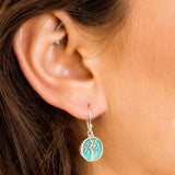 Tree of Life Healing Earrings Turquoise