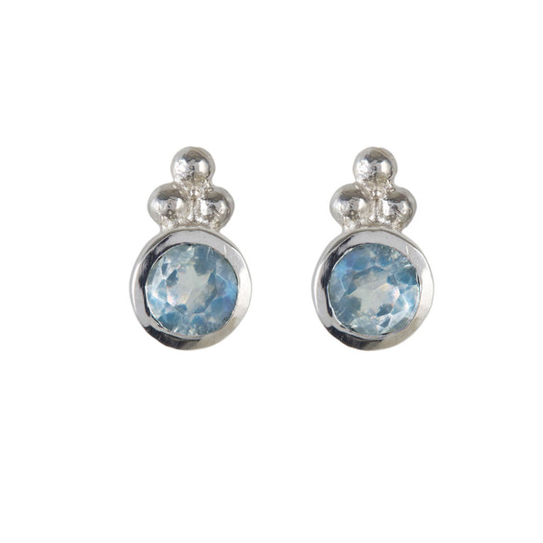 Holi Jewel Studs - Blue Topaz