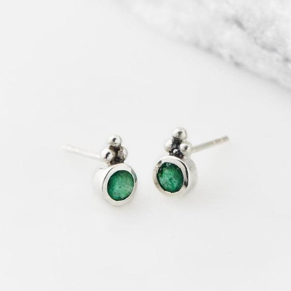 Holi Jewel Studs - Emerald