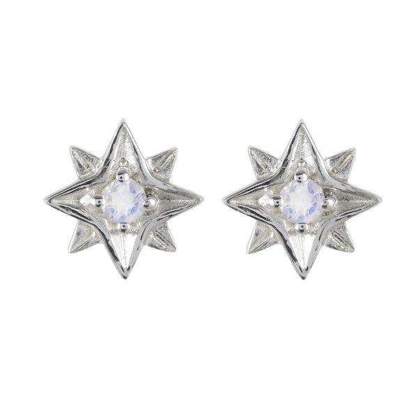 GUIDING NORTH STAR STUDS - MOONSTONE