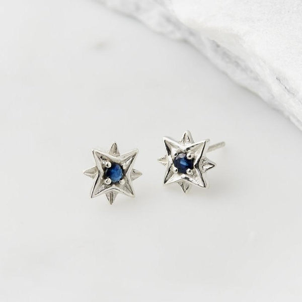 GUIDING NORTH STAR STUDS - SAPPHIRE