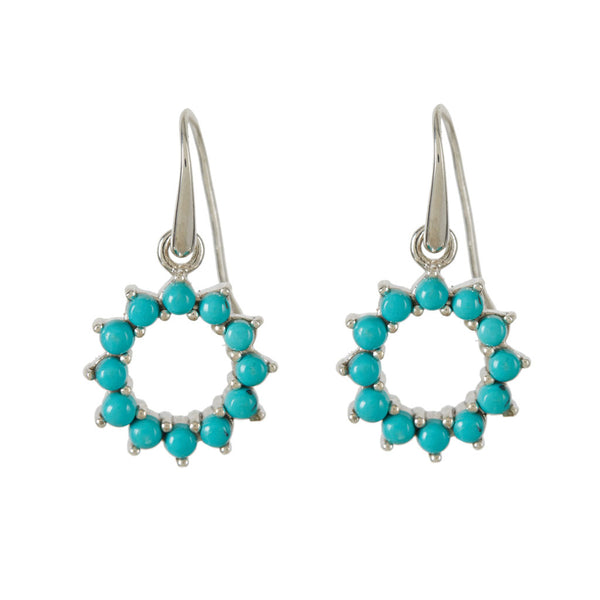 Halo Radiance Turquoise Drop Earrings