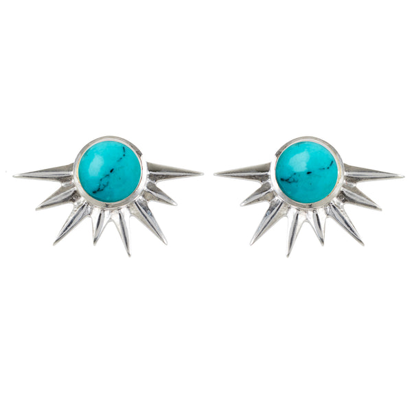 TOTAL ECLIPSE TURQUOISE SILVER STUDS