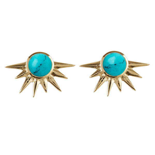 TOTAL ECLIPSE TURQUOISE GOLD STUDS