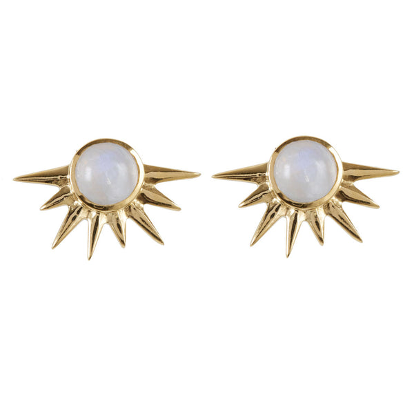 GOLD ECLIPSE STUD EARRINGS