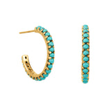 Halo Radiance Hoop Earrings - Gold