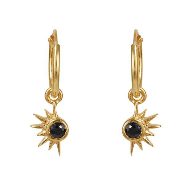 Total Eclipse Hoops - Gold Black Spinel