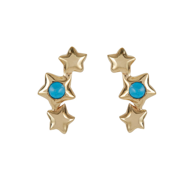 ORION TURQUOISE GOLD STAR STUDS