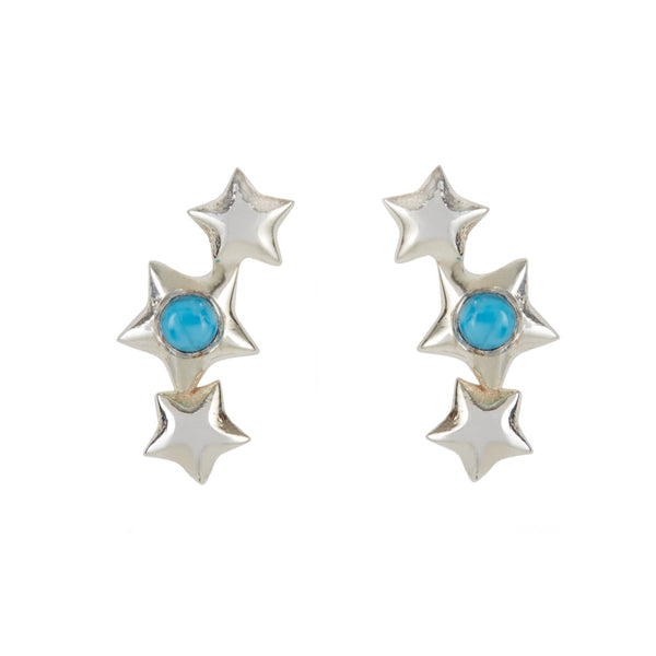 ORION TURQUOISE SILVER STAR STUDS