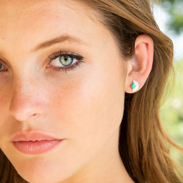 Aurora Sunrise Turquoise Stud Earrings