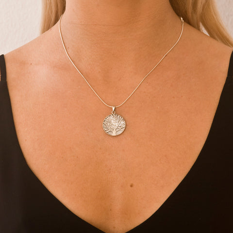 Tree Of Life Healing Necklace Pearl