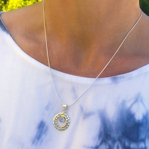 INFINITY UNIVERSE NECKLACE - MOONSTONE