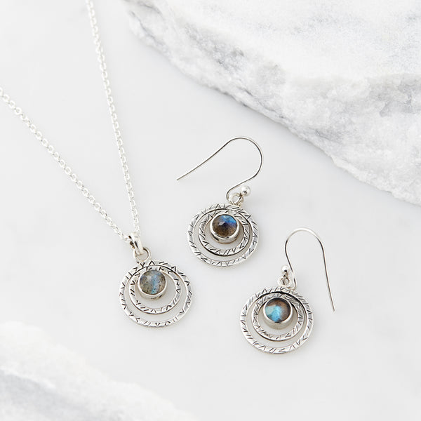 Infinity Protection Necklace and Earring Set