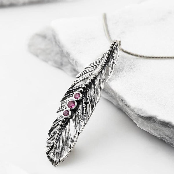 Tourmaline Freedom Feather Mani Necklace